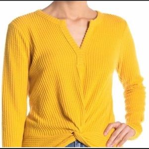 Socialite Long Sleeved Mustard Top Size M